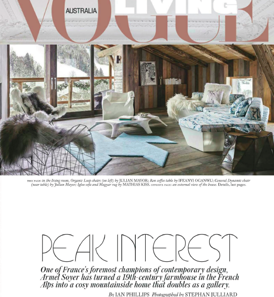 Peak interest in VOGUE Living Australie