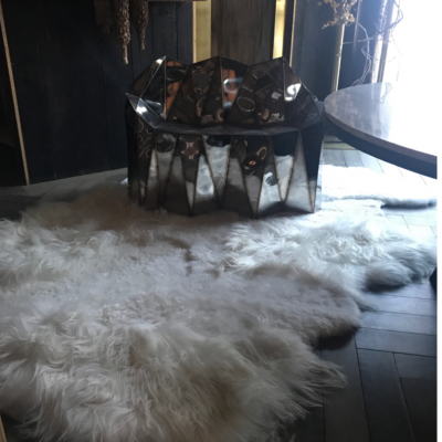 Tapis mouton islandais