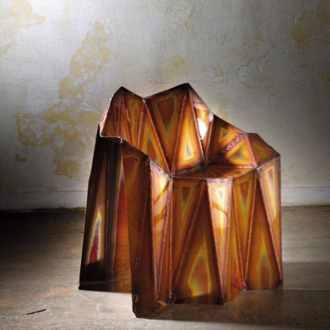 FERNANDO Copper chair