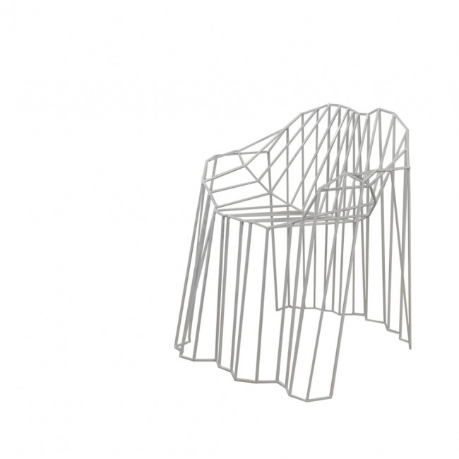 Folded wire Chair
