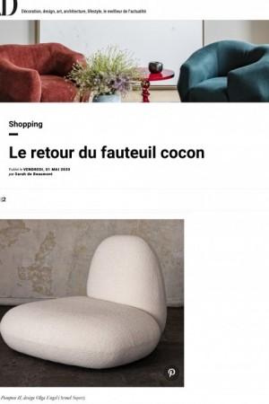 Le retour du fauteuil cocon AD Magazine